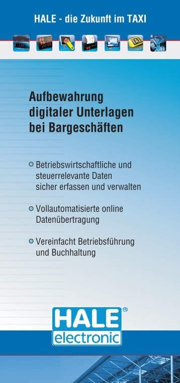 HALE - die Zukunft im TAXI - HALE electronic GmbH