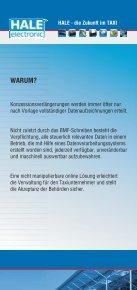 HALE - die Zukunft im TAXI - HALE electronic GmbH - Seite 2