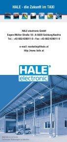 HALE - die Zukunft im TAXI - HALE electronic GmbH - Seite 6