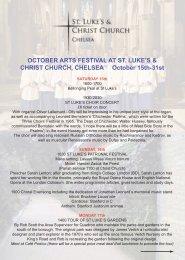 OCTOBER ARTS FESTIVAL AT ST. LUKE'S ... - Choir of St Luke's