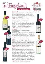 Das Frühlingserwachen! Wein des Monats - Villa Vinum