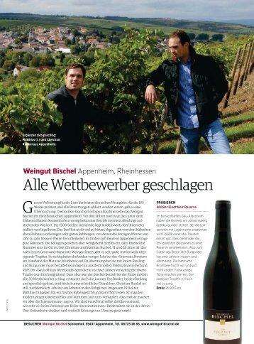 Aufsteiger VINUM Die 100 besten Weingüter ... - Weingut Bischel