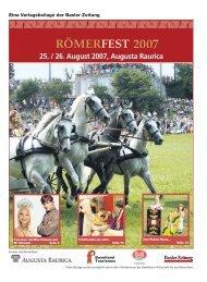 25. / 26. August 2007, Augusta Raurica - Römerfest in Augusta ...