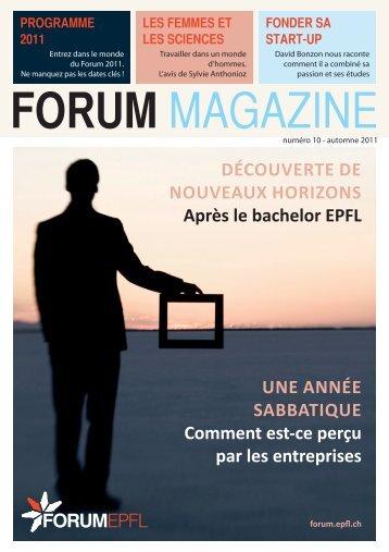 FORUM MAGAZINE - Forum EPFL