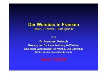 Fakten - Hintergründe - Bayerische Landesanstalt für Weinbau und ...