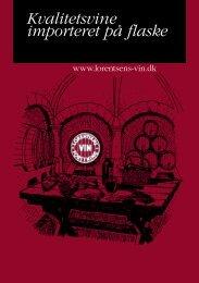 Kvalitetsvine importeret på flaske - Lorentsens Vin Forretning