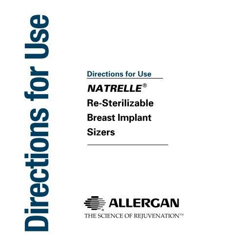 Natrelle Re Sterilizable Breast Implant Sizers Allergan