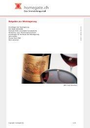 homegate.ch: Ratgeber zur Weinlagerung - Hausinfo