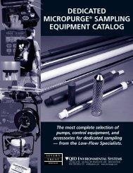 DEDICATED MICROPURGE® SAMPLING EQUIPMENT CATALOG