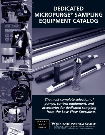 DEDICATED MICROPURGE® SAMPLING EQUIPMENT CATALOG