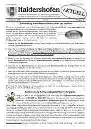 Hinweise - Informationen Verlautbarungen - Haidershofen