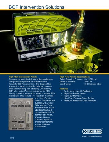 Six Shooter Systems - Oceaneering