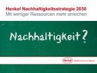Henkel Nachhaltigkeitsstrategie 2030
