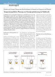 Temperaturgeführte Planung zur ... - PSI Metals GmbH