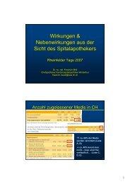 Dr. sc.nat. Friedrich Möll, Chefapotheker Kantonsspital Winterthur