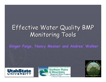 treatment monitoring stations - National Water Program