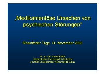 """""""Medikamentöse Ursachen von psychischen Störungen"""""""