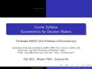 Plan de cours - Sciences Po