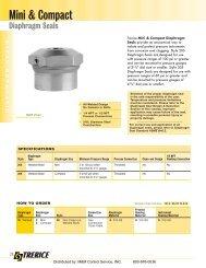 Mini & Compact Diaphragm Seals - M & M Control Services, Inc.