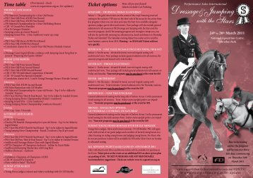 Ticket options - Equestrian Victoria Events
