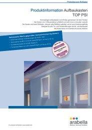 Produktinformation Aufbaukasten TOP PSI - Fensterbau Schreck
