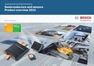 Product catalog Autumn 2012 - Bosch Semiconductors & Sensors