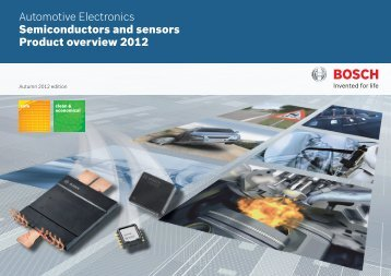Product catalog Autumn 2012 - Bosch Semiconductors & Sensors