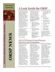 ORSP NEWS - Brooklyn College - CUNY