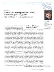 Glossar der Grundbegriffe für die Praxis Parodontologische