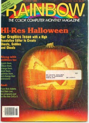 The Rainbow Vol. 06 No. 03 - October 1986 - TRS-80 Color ...
