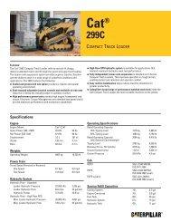 AEHQ5981-01, Cat 299C Compact Track Loader Spec ... - Pon / Cat