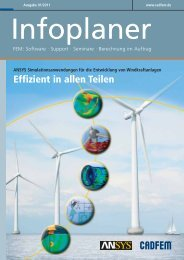Infoplaner 1-2011 - CAD-FEM GmbH