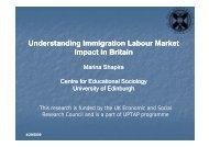 Understanding Immigration Labour Market Impact in Britain - UPTAP