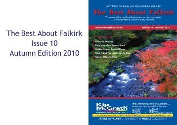 The Best About Falkirk Issue 10 Autumn Edition 2010