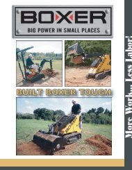 Boxer's Loader and Mini Excavator PDF Brochure