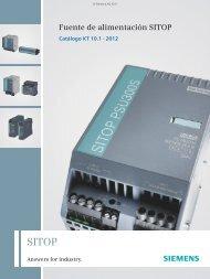 Fuente de alimentación SITOP - Siemens Automation and Drives ...