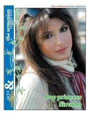 Pop princess Sirusho - Armenian Reporter