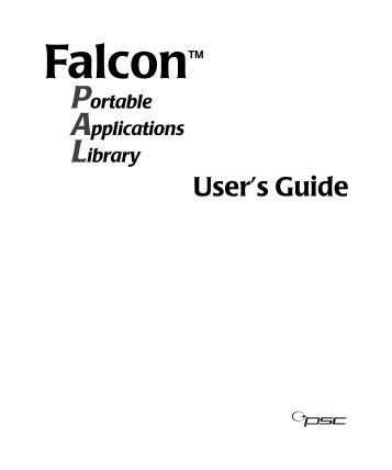 Falcon™ Portable Applications Library User's Guide - Datalogic