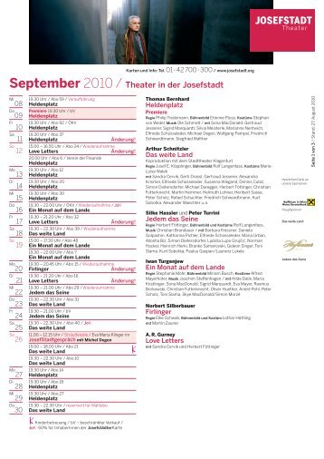 September - Theater in der Josefstadt