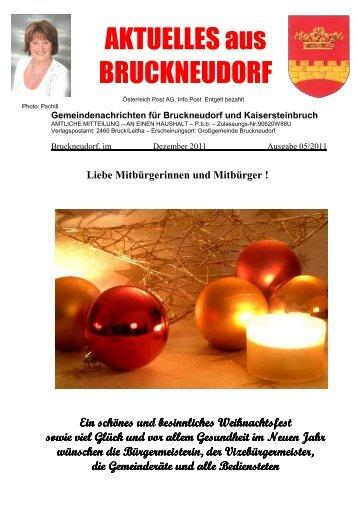 Gemeindenachrichten für Bruckneudorf und Kaisersteinbruch