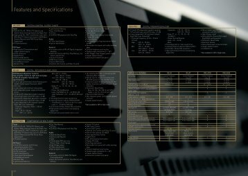 Features and Specifications - Pioneer Tuning - Pioneer Europe