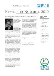 newsletter november 2010 - Project Management Institute Munich ...