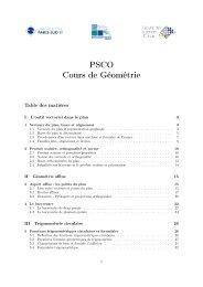 PSCO Cours de Géométrie - Normalesup.org