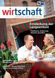 Entdeckung der Langsamkeit - IHK Schleswig-Holstein