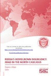 Russia's Homegrown Insurgency: Jihad in the North Caucasus