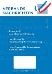 Sonderausgabe (PDF) gratis sichern! - Steuerberaterverband ...