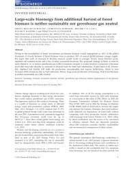 Large-scale bioenergy from additional harvest of forest biomass is ...