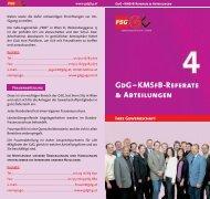 GdG–KMSfB-Referate & Abteilungen - FSG - GdG