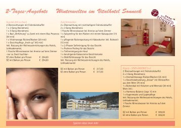 Arrangements Winter 2012 (PDF) - Vitalhotel Sonneck