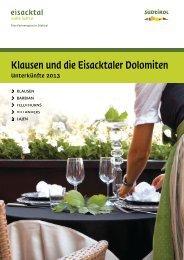 Klausen und die Eisacktaler Dolomiten - Tourismusverein Klausen